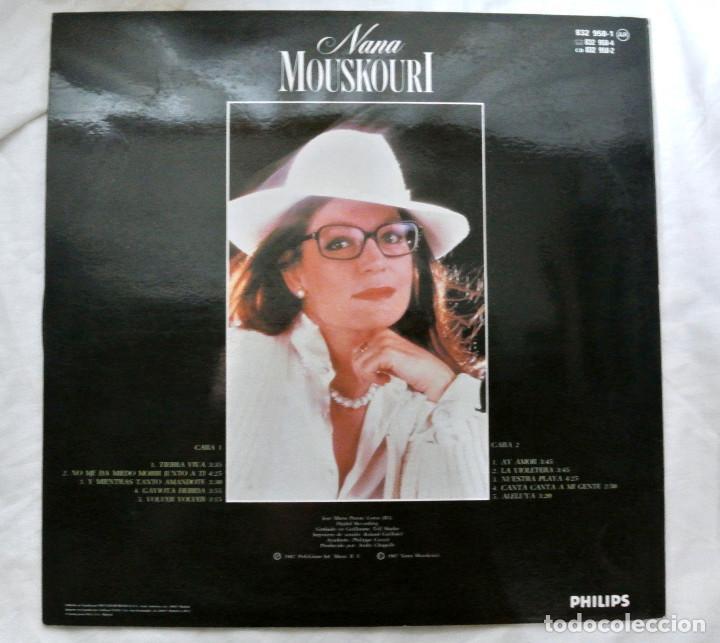 Discos de vinilo: NANA MOUSKORI TIERRA VIVA, DISCO VINILO LP, POLYGRAM, 1987 - Foto 2 - 217330096