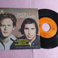 "Discos de vinilo: 7"" SIMON & GARFUNKEL – EL CONDOR PASA +3 - CBS EPC 1013 - MEXICO PRESS EP (VG++/VG++). Lote 217337348"