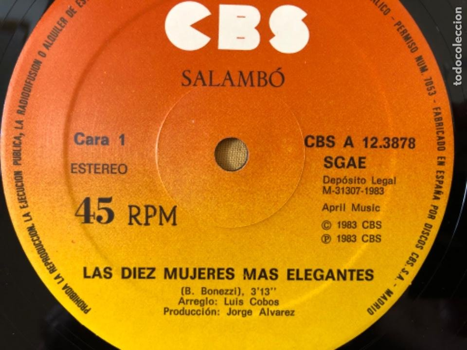 Discos de vinilo: SALAMBÓ MAXISINGLE - Foto 4 - 217342411
