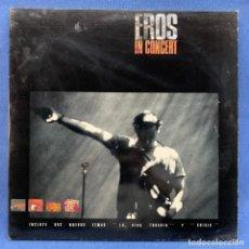 Discos de vinilo: LP EROS RAMAZZOTTI - EROS IN CONCERT - DOBLE PORTADA - DOBLE LP + ENCARTE - ESPAÑA - AÑO 1991. Lote 217345027