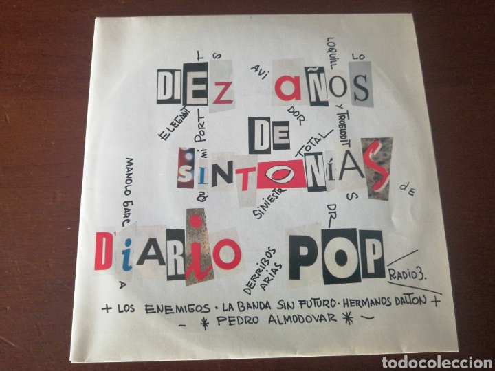 Discos de vinilo: EP + PÓSTER RAREZA DIEZ AÑOS DE SINTONÍA DIARIO POP ESTO NO ES HAWAII LOQUILLO ALASKA RADIO FUTURA - Foto 6 - 217357873