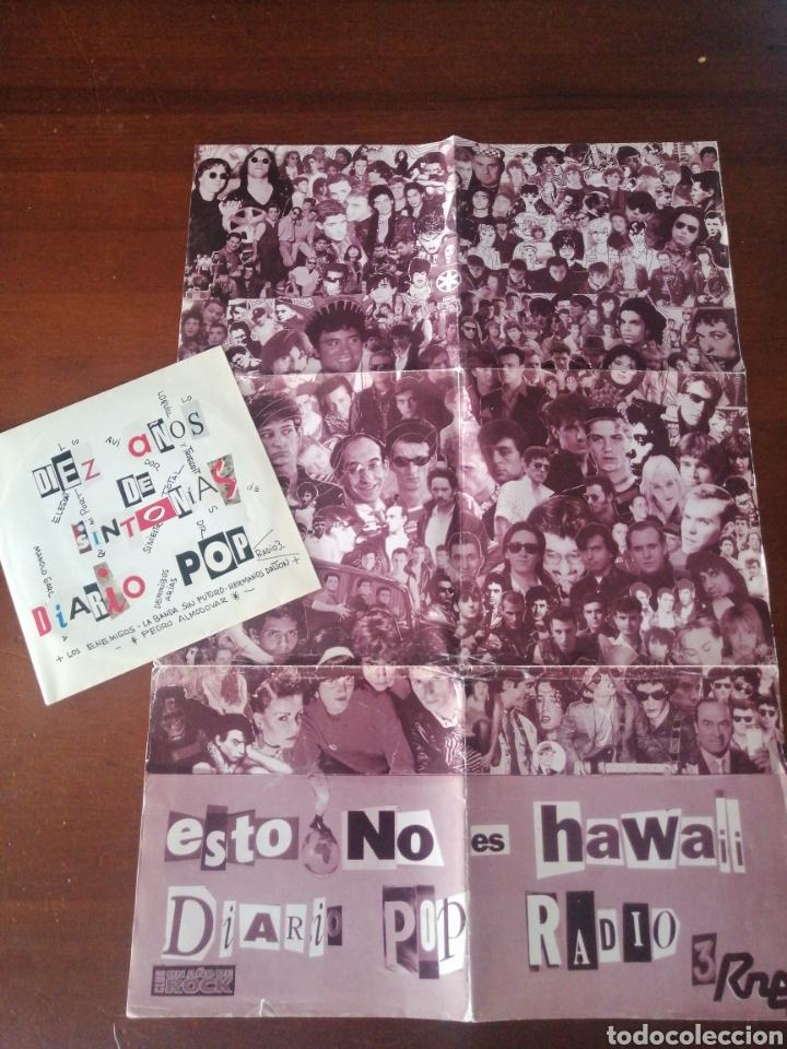 EP + PÓSTER RAREZA DIEZ AÑOS DE SINTONÍA DIARIO POP ESTO NO ES HAWAII LOQUILLO ALASKA RADIO FUTURA (Música - Discos de Vinilo - EPs - Grupos Españoles de los 70 y 80)