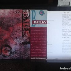 Discos de vinilo: CHRIS BAILEY - SAVAGE ENTERTAINMENT - RARE LP MADE IN FRANCE NEW ROSE. NM-M. Lote 217371607