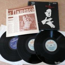 Discos de vinilo: EL FLAMENCO Nº2 -TEMAS HISTÓRICOS ACADEMIAS Y SALONES DE BAILE- CIRCULO DE LECTORES- SEGUNDA MANO. Lote 217382422