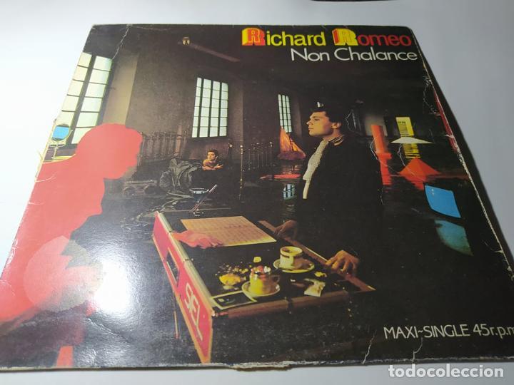 MAXI - RICHARD ROMEO – NON CHALANCE - F-601.377 ( VG+ / VG+ ) SPAIN 1987 (Música - Discos de Vinilo - Maxi Singles - Disco y Dance)