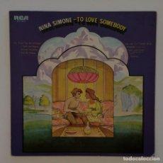 Discos de vinilo: NINA SIMONE – TO LOVE SOMEBODY JAPAN RCA. Lote 217439670