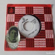 Discos de vinilo: MIGUEL RIOS, CONTRA EL CRISTAL, NO SABES COMO SUFRI, 1969, PROMOCIONAL HISPA VOX. Lote 217441858