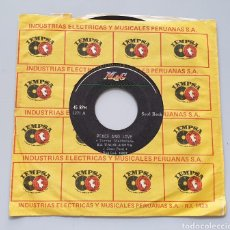 Discos de vinilo: JEAN PAUL EL TROGLODITA - PEACE AND LOVE +1 (PERÚ - MAG - 1971) KILLER SOUL ROCK SAICOS SHAINS YORKS. Lote 217442285