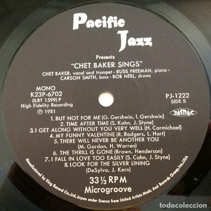 Discos de vinilo: Chet Baker – Chet Baker Sings Japan 1981 Pacific Jazz - Foto 6 - 217442651