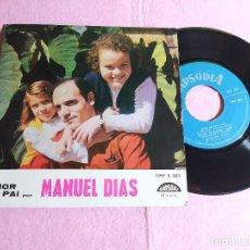 "Discos de vinilo: 7"" MANUEL DIAS – AMOR DE PAI +3 (FADO) - RAPSODIA EPF 5.061 - PORTUGAL PRESS - EP (VG++/VG++). Lote 217459348"