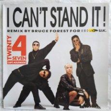 "Dischi in vinile: TWENTY 4 SEVEN - I CAN'T STAND IT (DMC UK REMIXES) (12"") (BLANCO Y NEGRO) MX 247R (D:NM). Lote 217461473"