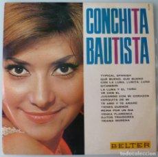 Discos de vinilo: CONCHITA BAUTISTA - QUE BUENO, QUE BUENO (LP BELTER 1965) EUROVISION. Lote 217468682