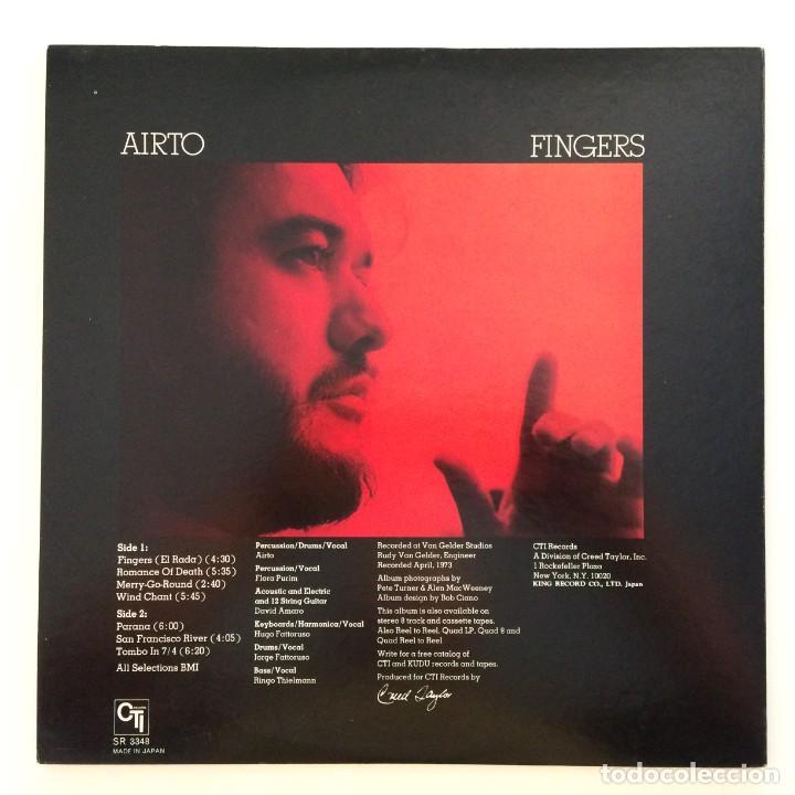 Discos de vinilo: Airto – Fingers Japan 1973 CTI Records - Foto 2 - 217468966