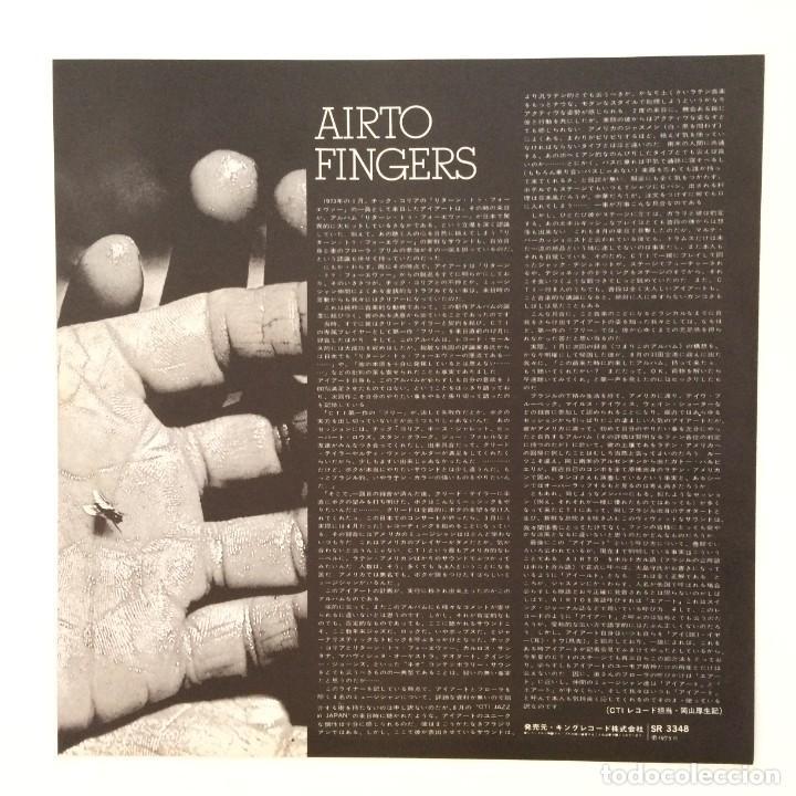 Discos de vinilo: Airto – Fingers Japan 1973 CTI Records - Foto 5 - 217468966