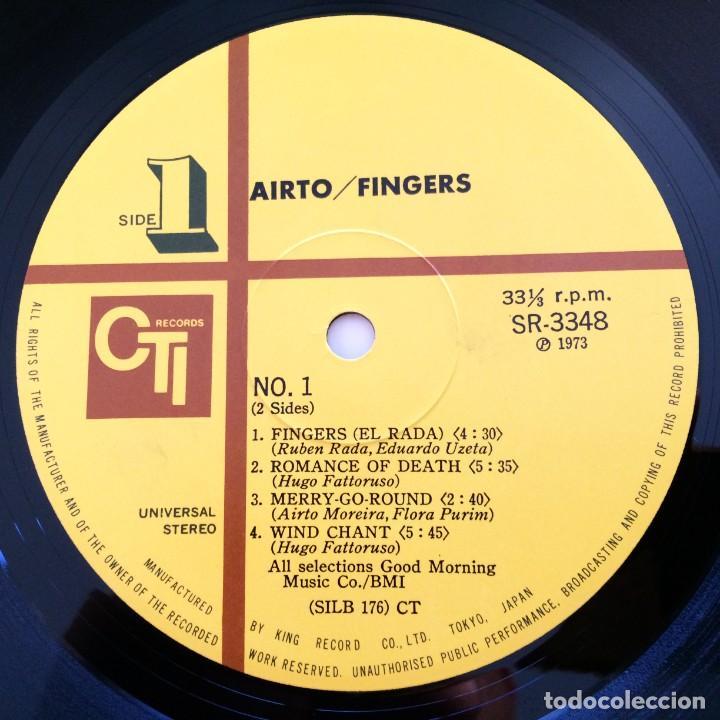 Discos de vinilo: Airto – Fingers Japan 1973 CTI Records - Foto 6 - 217468966