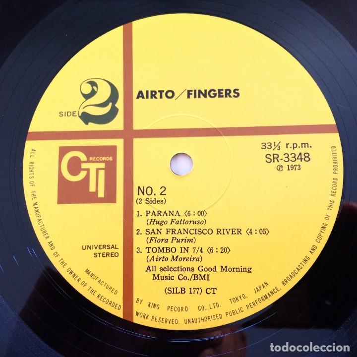 Discos de vinilo: Airto – Fingers Japan 1973 CTI Records - Foto 7 - 217468966