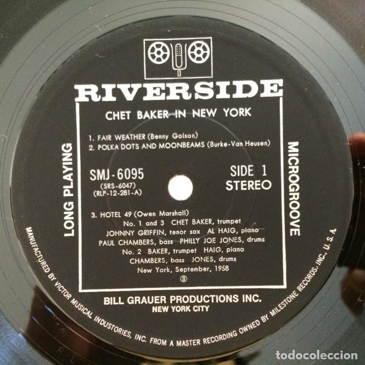 Discos de vinilo: Chet Baker – In New York USA 1985 Original Jazz Classics - Foto 4 - 217471998