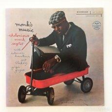Discos de vinilo: THELONIOUS MONK SEPTET – MONK'S MUSIC JAPAN 1977 RIVERSIDE RECORDS. Lote 217473433