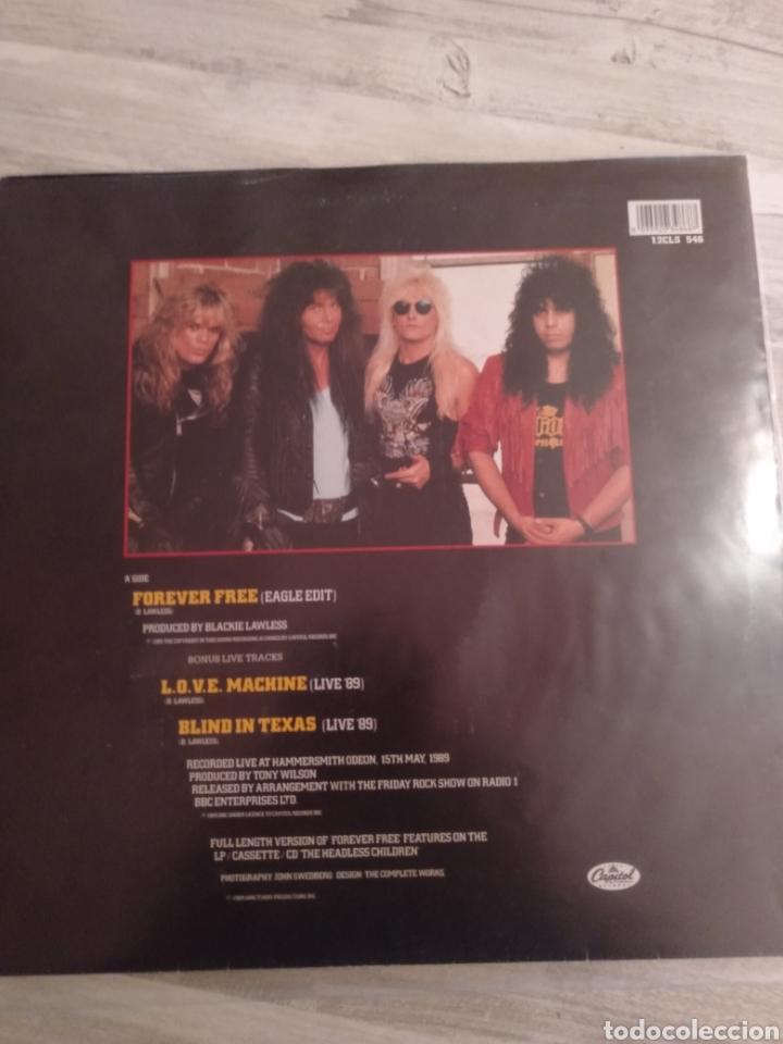 """Discos de vinilo: Wasp """" Forever Free """"Maxi Single 12"""" Edición Limitada U.K. Con Poster desplegable y Vinilo Firmado . - Foto 2 - 217485682"""