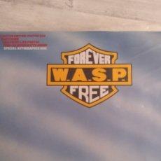 """Discos de vinilo: WASP """" FOREVER FREE """"MAXI SINGLE 12"""" EDICIÓN LIMITADA U.K. CON POSTER DESPLEGABLE Y VINILO FIRMADO .. Lote 217485682"""