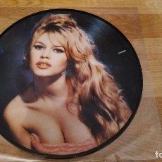 Disques de vinyle: BRIGITTE BARDOT LP ET DIEU CREA LA FEMME,PICTURE DISC DEMANRK 1984 -MADONNA. Lote 217496207