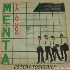Discos de vinilo: MENTA - YA LO VES + 3 - EMI ODEON 1980. Lote 217496651