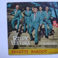 Dischi in vinile: RUDY VENTURA - BRIGITTE BARDOT / HOROSCOPO / NORTE, SUR, ESTE, OESTE / MORENA DE VERDE LUNA. Lote 217504120