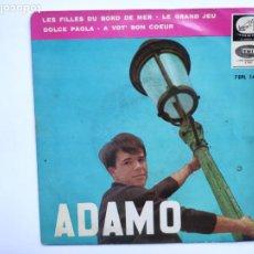 Dischi in vinile: ADAMO - LES FILLES DU BORD DE MER - EP ESPAÑOL. Lote 217504622
