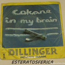 Discos de vinilo: DILLINGER - COKANE IN MY BRAIN + POWER BANK - ARIOLA 1979. Lote 217504940
