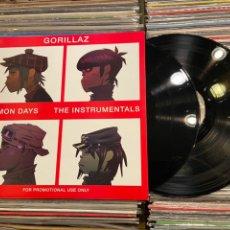 Discos de vinilo: GORILAZ DEMON DAYS THE INSTRUMENTALS DISCO DOBLE DE VINILO 2LP. Lote 217516592