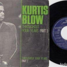 Discos de vinilo: KURTIS BLOW - THROUGHOUT YOUR YEARS - SINGLE DE VINILO EDICION ESPAÑOLA OLD SKOOL RAP HIP HOP. Lote 217526650