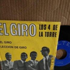 Discos de vinilo: SINGLE-LOS 4 DE LA TORRE-. Lote 217532607