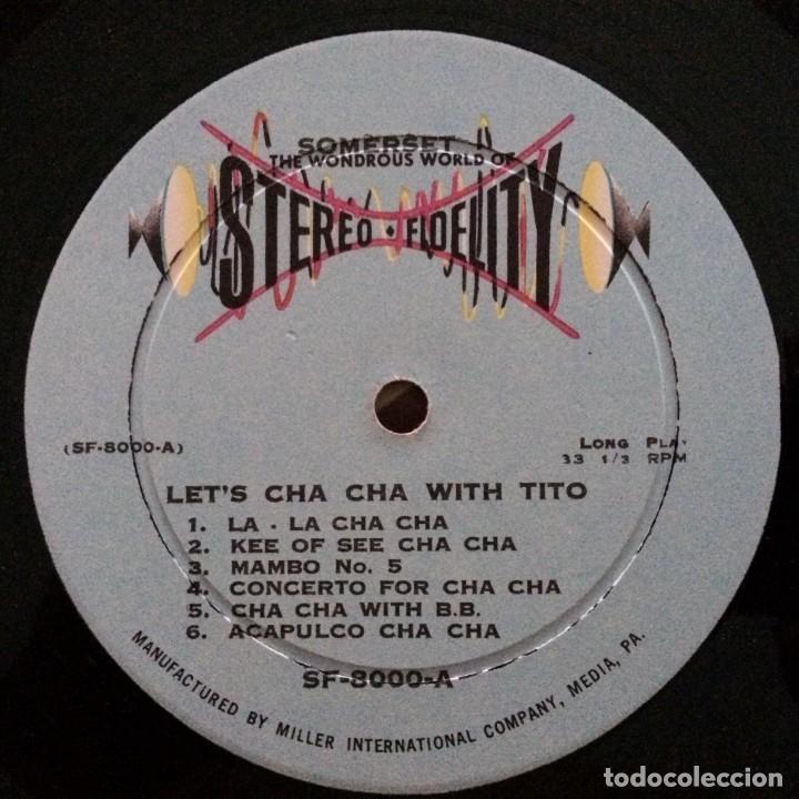 Discos de vinilo: Tito Morano And His Orchestra – Lets Cha Cha Cha USA Stereo Fidelity - Foto 3 - 217567396