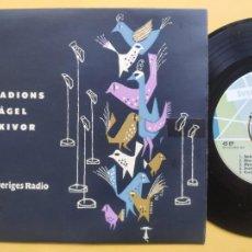 Discos de vinilo: RADIONS FAGEL SKIVOR - EP SUECIA PS - SVERIGES RADIO - FANTÁSTICA ILUSTRACIÓN EN PORTADA. Lote 217585430