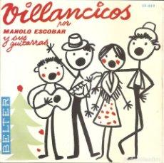 Disques de vinyle: MANOLO ESCOBAR - VANOS PASTORES/PASTORES A BELEN/AIRES NAVIDEÑOS JEREZANOS/VILLANCICOS DE TRIANA. Lote 233057240