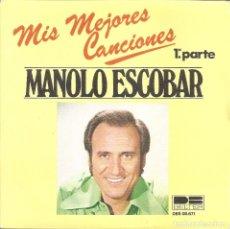 Dischi in vinile: MANOLO ESCOBAR - MIS MEJORES CANCIONES, 1ª Y 2ª PARTE (SINGLE ESPAÑOL, BELTER 1978). Lote 226761575