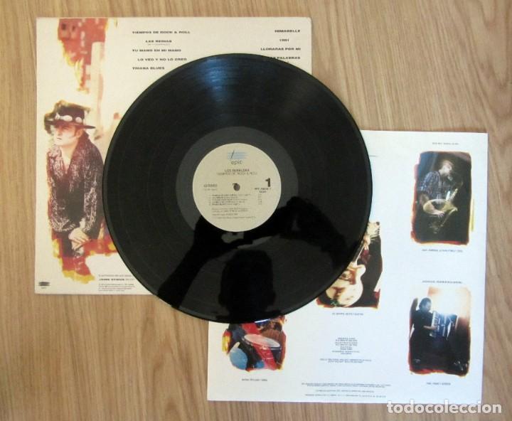 Discos de vinilo: LOS REBELDES - TIEMPOS DE ROCK & ROLL - LP -EPIC 1991 SPAIN EPC469242 1 JAIME STINUS SEGARRA NEL.LO - Foto 2 - 217606317