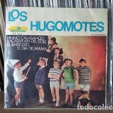 Discos de vinil: LOS HUGOMOTES HIMNO CALASANCIANO/RACATAPLAN DEL COLE/EL BARTOLITO/EL DIA DE MAMA EP 1966. Lote 217612255