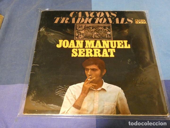 EXPRO LP JOAN MANUEL SERRAT CANÇONS TRADICIONALS 1967 EDIGSA PORTADA ABIERTA PRESENTA UNA LINEA LEVE (Música - Discos - LP Vinilo - Pop - Rock - Extranjero de los 70)