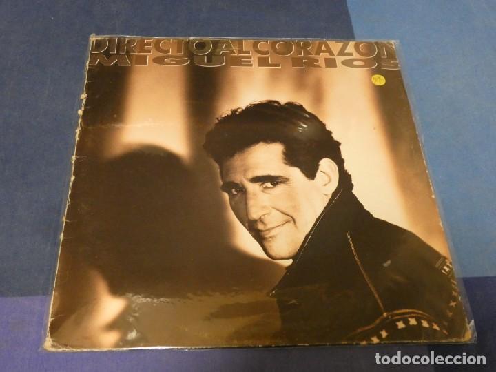 EXPRO LP MIGUEL RIOS DIRECTO AL CORAZON 1991 ESTADO RAZONABLE LOMO ROZADILLO TIENE INSERT (Música - Discos - LP Vinilo - Pop - Rock - Extranjero de los 70)