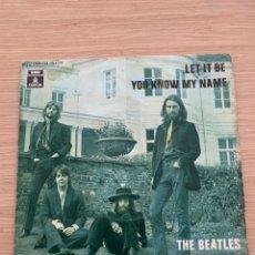 """Discos de vinilo: THE BEATLES - SINGLE 7"""" - LET IT BE. Lote 217615622"""