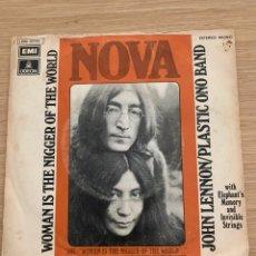 "Discos de vinilo: JOHN LENNON - SINGLE 7"" - WOMAN IS THE NIGGER OF THE WORLD - THE BEATLES. Lote 217618423"