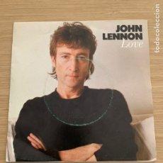 "Discos de vinilo: JOHN LENNON - SINGLE 7"" - LOVE - THE BEATLES. Lote 217619033"