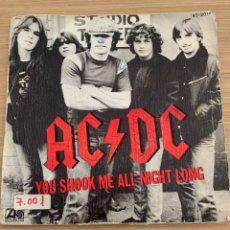 "Discos de vinilo: AC/DC - SINGLE 7"" - YOU SHOOK ME ALL NIGHT LONG ACDC. Lote 217623113"