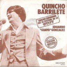 Disques de vinyle: EDUARDO GUAYO GONZALEZ - QUINCHO BARRILETE / GAVIOTAS DE ALAS BLANCAS (SINGLE ESPAÑOL, BELTER 1977). Lote 217630251