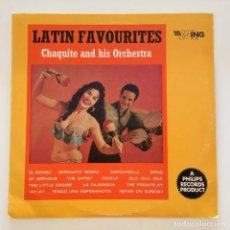 Discos de vinilo: CHAQUITO & HIS ORCHESTRA – LATIN FAVOURITES UK 1965 WING. Lote 217639422