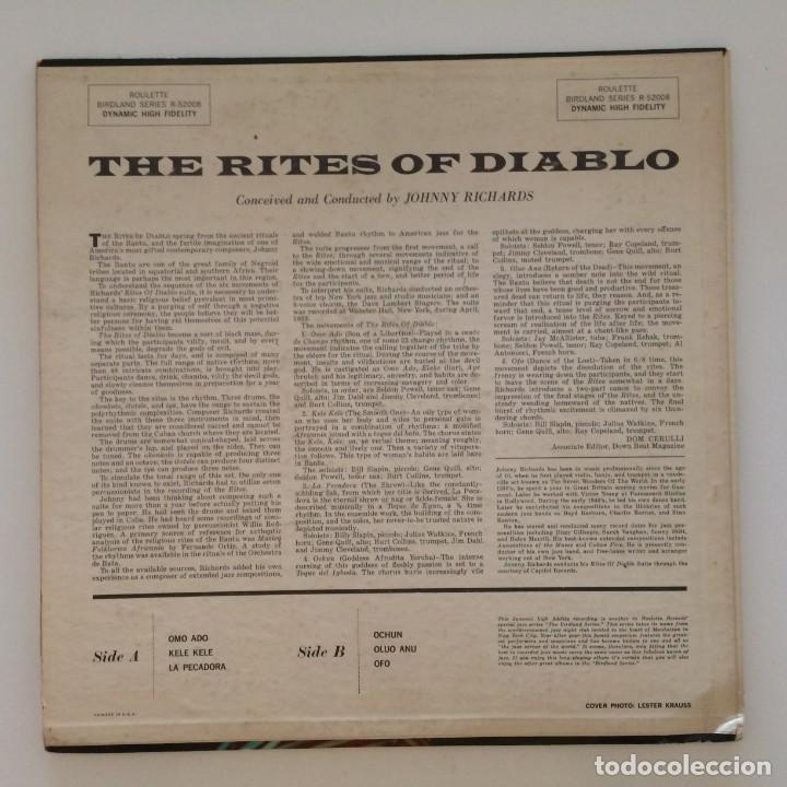 Discos de vinilo: Johnny Richards – The Rites Of Diablo USA 1958 Roulette - Foto 2 - 217641597