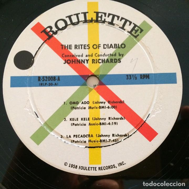 Discos de vinilo: Johnny Richards – The Rites Of Diablo USA 1958 Roulette - Foto 3 - 217641597