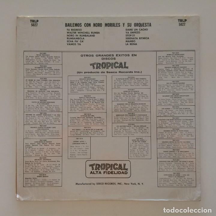 Discos de vinilo: Noro Morales & His Orchestra – Bailemos Con Noro Morales Y Su Orquesta USA Tropical - Foto 2 - 217642147