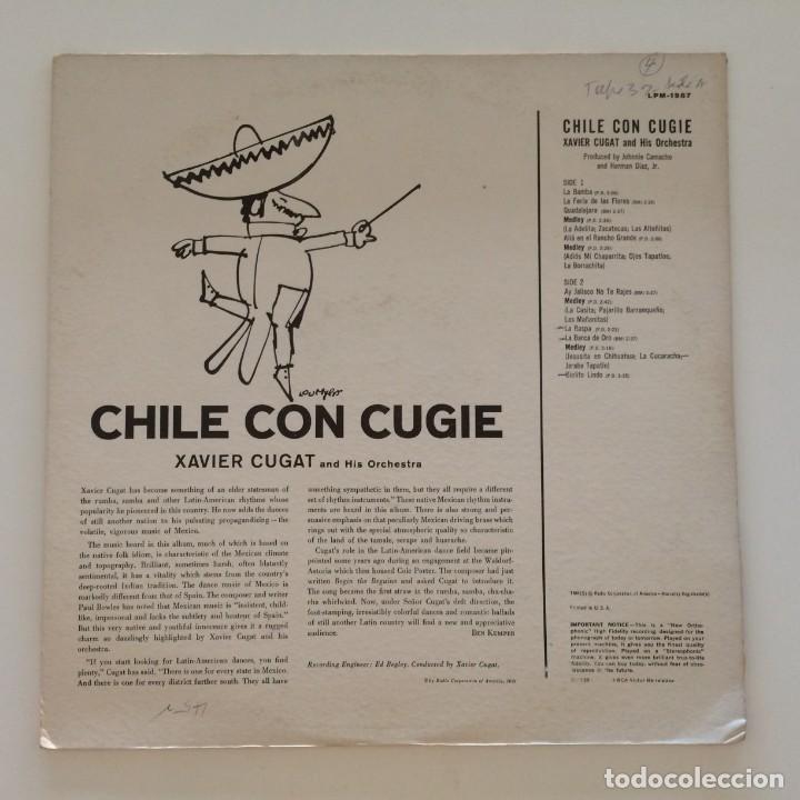 Discos de vinilo: Xavier Cugat And His Orchestra – Chile Con Cugie Canada 1950 RCA Victor - Foto 2 - 217642642